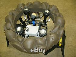 1 1/2HP Turtle Fountain Justice Floating Lake and Pond Aerator withLights (USA)