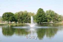 1hp CasCade 5000 Floating Pond Fountain Aerator 100ft Cord w Light & Timer