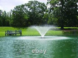34Hp Vfx Series Aerating Pond Fountain 120V Single Phase 100 Ft Power Cord