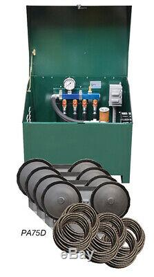 3/4 HP Deluxe Rotary Vane Pond Aeration Complete System tubing diffusers PA75D