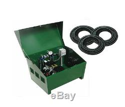 3/4 HP Rocking Piston Pond Aerator with Locking Cabinet and 600ft Tubing PA86DLD