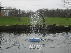 600GPH FLOATING Pond Pool WATER FOUNTAIN Aerator & MULTCOLOR LITE /2 N0ZZLES
