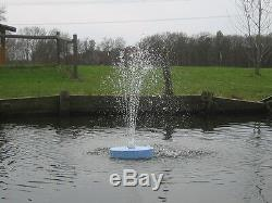 600GPH FLOATING Pond Pool koi WATER FOUNTAIN Aerator & WHITE LITE & 2. NOZZLES