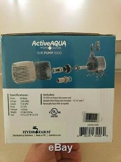 Active Aqua 1110 gpm pond fountain submersible pump with aeration kit