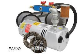 EasyPro Rotary Vane Pond Aeration System 1/4HP Kit with Tubing & Diffusers PA50W
