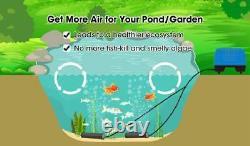 Hqua Swa20 1/8Hp Pond Water Garden Septic Aerator Kit, Aeration System, Max 5 Cf