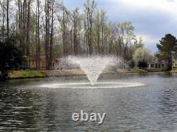 Kasco 3/4HP VFX Series Aerating Pond Fountain 120V, Single Phase, 100 Ft Power