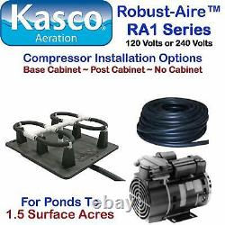 Kasco Aeration Robust-Aire Kit RA1NC Ponds To 1.5 Surface Acres 120V