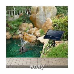 Lewisia Battery Backup Solar Fountain Pump with LED Lighting for Pool Koi Pon