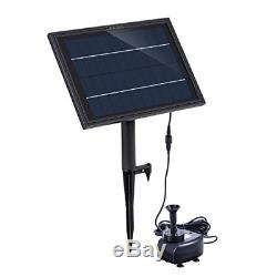 Lewisia Battery Backup Solar Fountain Pump with LED Lighting for Pool Koi Pond