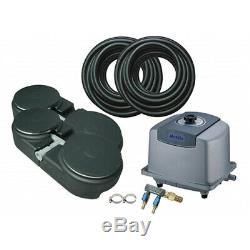 Matala EZ-Air Pro 6 Plus Pond Aeration Kit Includes Pump, Air Hose & Diffusers