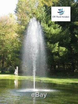 NEW 1 HP Floating Pond Aerating Fountain with 2-Nozzle Patterns 150' cord 115v