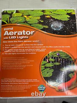 Pond Aerator With LED Lights Total Pond New In Box