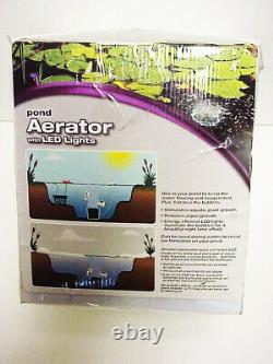 Pond Aerator with LED Lights POND BOSS Dpar New in Box