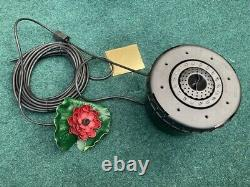 Pontec Pond Aeration Set 1200 l/hr with LED Fountain Air Pump Lily Oxygenation