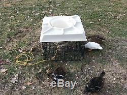 Power House F500 115v 120v Pond Fountain Aerator Floating Cage Wildlife Fish