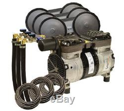 Rocking Piston Pond Aeration System 1/2 HP Kit with Diffusers & Poly Tubing PA66