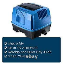 SWA20 1/8HP Pond Water Garden Septic Aerator Kit, Aeration System, MAX 5 CFM