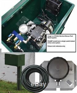 Sentinel Deluxe Aeration System Pond Aeration Kit with post mount cabinet PA34DP
