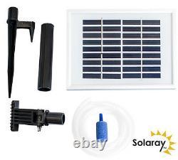 Solar Aerator Oxygenator 1 Stone Water Feature Fountain Garden Pond Yard
