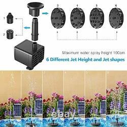Solar Fountain Pump 5.5W Aerator Bird Bath Garden Pond Fish Tank Aquarium
