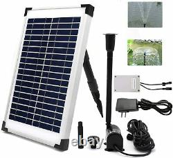 Solar Fountain Water Pump Kit for Sun Powered Fountain Pond Aeration Hydroponics