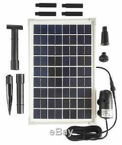 Solar Water Pump Kit for Sun Powered Fountain Waterfall Pond Aeration Aquarium
