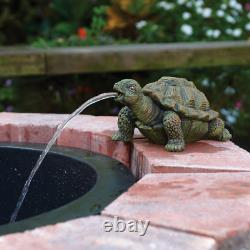 Turtle Spitter Pump Aeration Water Garden Outdoor Fountain Decoration