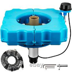 VEVOR 1.2 HP Floating Pond Fountain Aerator 100 ft Cord Stainless Steel Motor