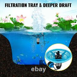 VEVOR 1hp Floating Pond Fountain Aerator 100ft Cord withFiltration & Flow Tube