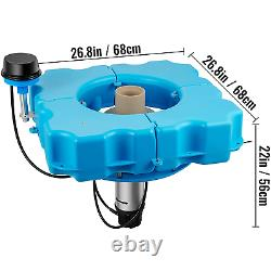 VEVOR Lake Fountains with 110V 1 HP Motor Aerating Pond Fountain with 100Ft Cord