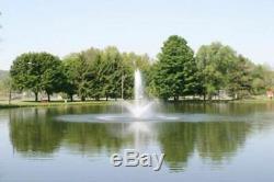 1hp Cascade 5000 Étang Flottant Fontaine Aérateur 100ft Cordon Avec La Lumière Et Du Minuteur
