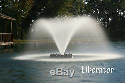 3 / 4hp Tortue Fontaine Libérateur Lac Flottant Et Un Étang Aérateurs Withlights (etats-unis)