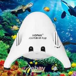 3.8w Aquarium Aérateur Poisson Tank Pompe À Air Oxygène Fontaine Étang 2 Au1