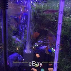 Aqua Aquarium Pompe À Air Oxygène Oxy Fontaine Aérateur De Bassin D'eau Fish Tank 2 Outlet