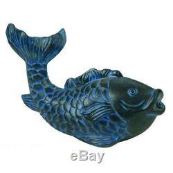 Bleu Extérieur Jardin Fontaine D'eau Aérateur Pompe Petit Étang Koi Fish Spitter