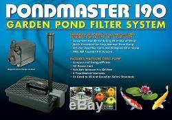 Danner Pondmaster 190 Étang De Jardin Filtre, Pompe Et Aérateur Fontaine D'eau Kit