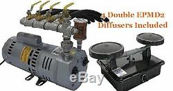 Easypro Pa75a Rotary Vane Étang 3/4 Système D'aération Compresseur HP Avec Ses 4 Diffuseurs