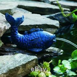 Extérieur Jardin Fontaine D'eau Aérateur Pompe Petit Étang Koi Fish Spitter Bleu