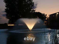 Fontaine Décorative Du Lac Et De L'étang Kasco Avec Lumières Led 3/4 HP Vfx 340