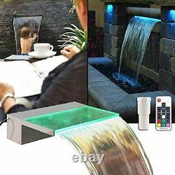 Fontaine Éclairée Évacuateur 12 Rgb Piscine Led Fontaine Koi Pond Piscine Aerat