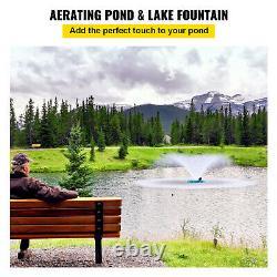 Fontaines Du Lac Vevor Étang Flottant Ou Fontaine Du Lac Aérateur 3/4 HP 100ft Câble
