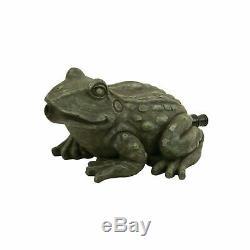 Frog Pond Spitter Aérateur Eau Fontaine Décorative Statue Paysage Figure