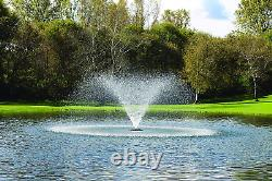 Kasco 3/4hp J Série Aerating Pond Fontaine 120v, 100 Ft Cordon De Puissance 3400jf10