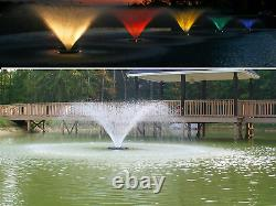 Kasco Décoratif Lac Etang Fontaine Aérateur Avec Des Lumières Led 3/4 HP Vfx 340