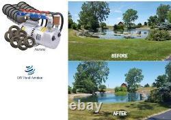 Kit D'aération Grand Étang Du Lac 1-6+ Acres 800' Sink Tube 12 Diffuseurs 1hp 13+ Cfm