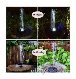 Lewisia Batterie De Secours Solaire Fontaine Pompe Avec Led Pour Piscine Koi Éclairage Pon