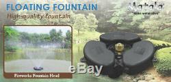 Matala Fontaine Flottante De Bassin Et Lac Aérateurs Kits Led En Option / Buses Modèles