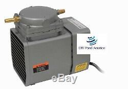 Nouveau Gast Diaphragme Compresseur 1/8 HP 1.1cfm Fish Lake Étang Pompe Aeration