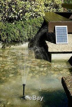 Pompe À Eau Solaire Kit Pour Sun Powered Fontaine Cascade Étang Aquarium Aeration